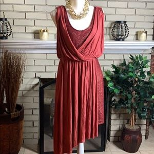 "☘️Make an Offer🍀""Free People"" Grecian style dress"